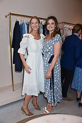 Lady Gabriella Windsor and Lady Natasha Rufus Isaacs at the launch of the Beulah Flagship store, 77 Elizabeth Street, London England. 16 May 2018.