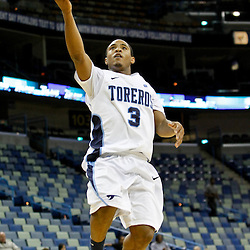 November 27, 2011; New Orleans, LA; San Diego Toreros guard Darian Norris (3) against the Tulane Green Wave during the second half of the Hoops for Hope Classic at the New Orleans Arena. Tulane defeated San Diego 65-46. Mandatory Credit: Derick E. Hingle-US PRESSWIRE
