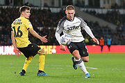 Derby County forward Martyn Waghorn (9) during the EFL Sky Bet Championship match between Derby County and Millwall at the Pride Park, Derby, England on 14 December 2019.