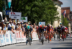 Sprint during Stage 1 of 24th Tour of Slovenia 2017 / Tour de Slovenie from Koper to Kocevje (159,4 km) cycling race on June 15, 2017 in Slovenia. Photo by Vid Ponikvar / Sportida
