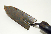 close up of antique trowel