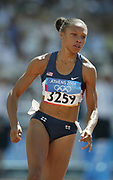Allyson Felix of the United States finished second in the women's 200 meters in a world junior record 22.18 in the 2004 Olympics in Athens, Greece on Wednesday, August 25, 2004.
