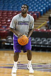 January 19, 2011; Sacramento, CA, USA;  Sacramento Kings point guard Pooh Jeter (5) warms up before the game against the Portland Trail Blazers at the ARCO Arena.