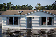 Sept 1, 2017,  flooded home in Vidor, Texas. Hurricane Harvey, was downgraded to a tropical storm when it flooded Vidor, Texas and the surrounding area.