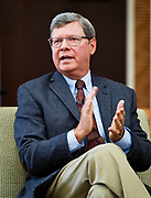 """Political analyst Charlie Sykes speaks on the panel """"How should the Right in Wisconsin navigate the Trump era?"""" at the Cap Times 2017 Idea Fest, Sunday, September 17, 2017"""