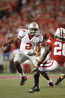MADISON, WI - OCTOBER 16: Terrelle Pryor #2 of the Ohio State Buckeyes runs the ball against the Wisconsin Badgers at Camp Randall Stadium on October 16, 2010 in Madison, Wisconsin. Wisconsin defeated Ohio State 31-18. (Photo by Tom Hauck)