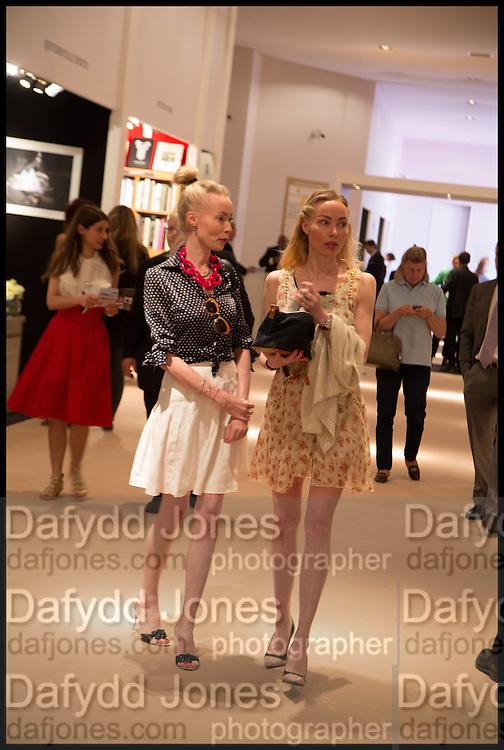 MIA FAHLER; EVA FAHLER, Masterpiece London 2014 Preview. The Royal Hospital, Chelsea. London. 25 June 2014.