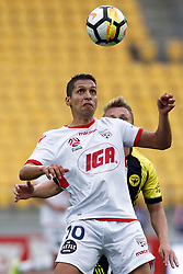 Adelaide United's Karim Matmour watches the ball against the Phoenix in the A-League football match at Westpac Stadium, Wellington, New Zealand, Sunday, October 08, 2017. Credit:SNPA / Dean Pemberton **NO ARCHIVING**