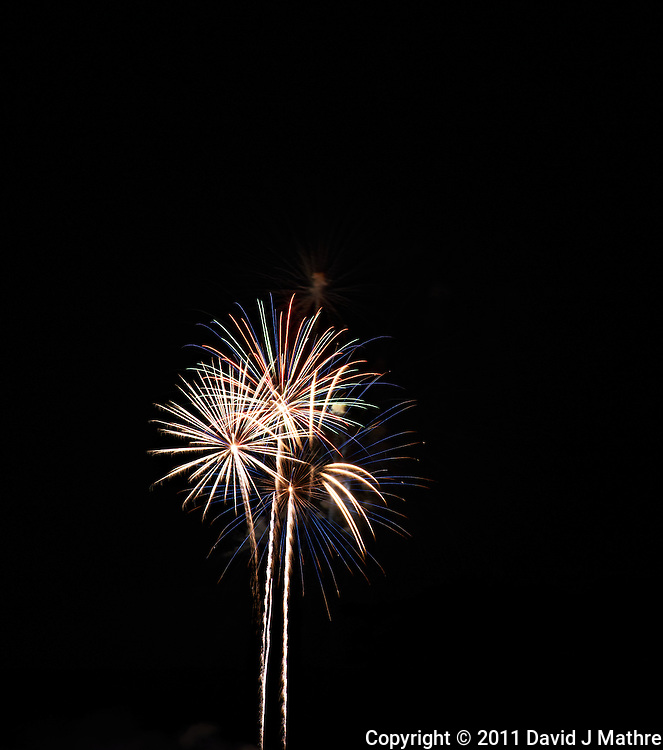 Montgomery Township Independence Day Fireworks 2011. Summer in New Jersey. Image taken with a Nikon D3x and 180 mm f/2.8 lens (ISO 100, 180 mm, f/11, 4 sec). Raw image processed with Capture One Pro 6.