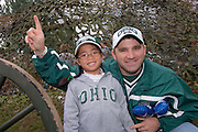 Katelyn Baughman, and Dad Chris Baughman during Parents Weekend. © Ohio University / Photo by Rick Fatica