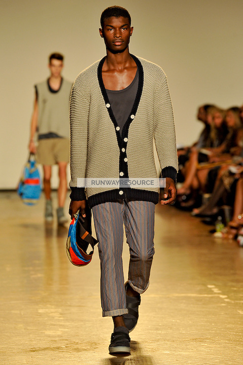 Salieu walks the runway wearing Marc by Marc Jacobs Spring 2010 collection during New York Mercedes-Benz fashion week on September 15, 2009.