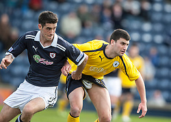 Raith Rovers Brian Graham and Falkirk's Johnny Flynn..Raith Rovers 0 v 0 Falkirk, 27/4/2013..© Michael Schofield.