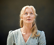 The Lady from the Sea <br /> by Henrik Ibsen<br /> directed by Stephen Unwin <br /> at The Rose Theatre, Kingston, Surrey, Great Britain <br /> press photocall<br /> 27th February 2012 <br /> <br /> Joely Richardson (as Ellida Wangel)<br /> Malcolm Storry (as Dr Wangel)<br /> Gudmundur Thorvaldsson (as the stranger)<br /> Photograph by Elliott Franks