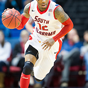 MOBILE, AL - DECEMBER 4:  Antoine Allen #12 of the South Alabama Jaguars dribbles the ball down the court during their game against the New Mexico Aggies at USA Mitchell Center on December 4, 2012 in Mobile, Alabama. At halftime New Mexico State leads South Alabama 31-25. (Photo by Michael Chang/Getty Images) *** Local Caption *** Antoine Allen