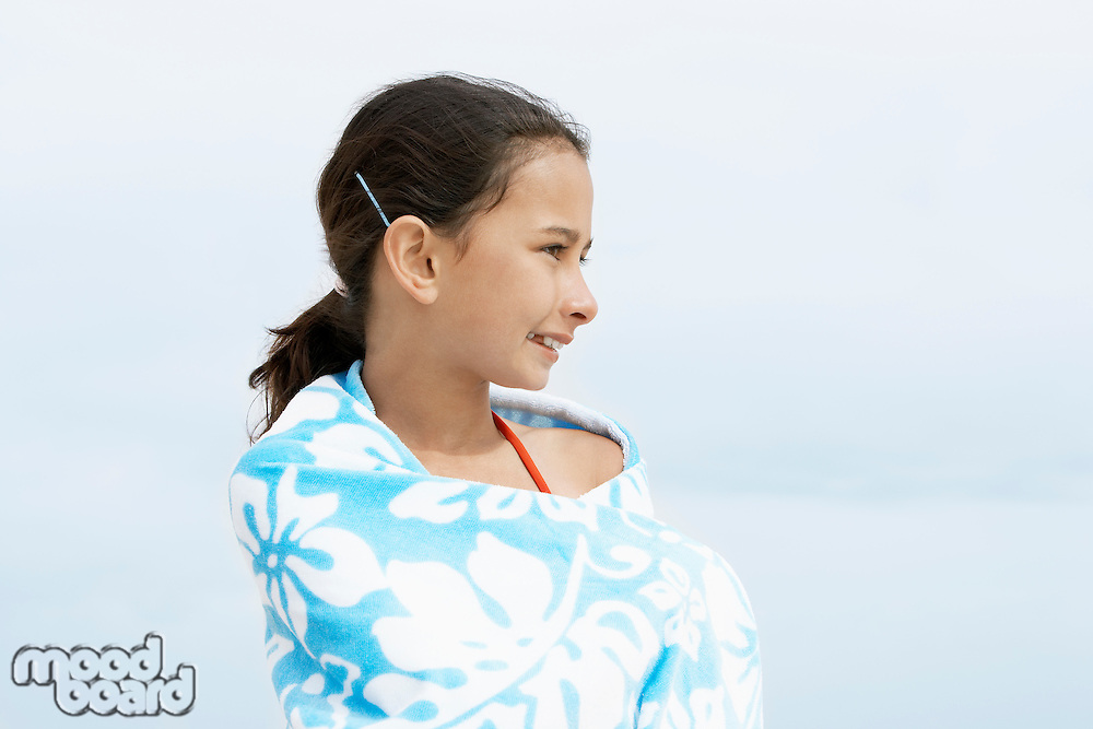 Pre-teen girl Wrapped in a Towel profile