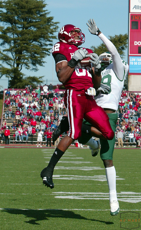 28 October 2006: Indiana wide receiver James Hardy (82) as the Indiana Hoosiers beat the the Michigan State Spartans 46-21 in college football in Bloomington, Ind.