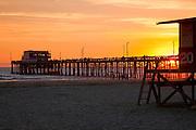 Newport Beach Pier at Dusk