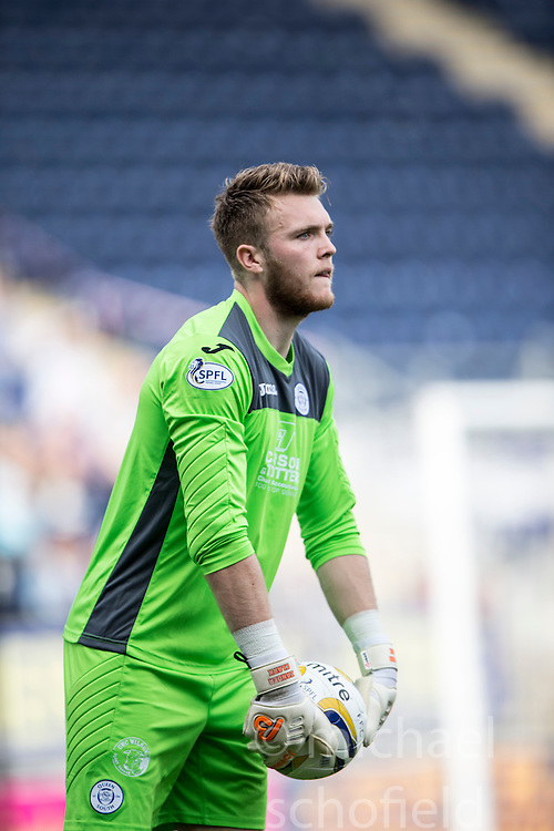 Queen of the South's keeper Zander Clark.<br /> Falkirk 1 v 1 Queen of the South, Scottish Championship game played today at The Falkirk Stadium.
