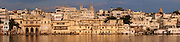 Lake Pichhola panorama at sunset - Udaipur - India