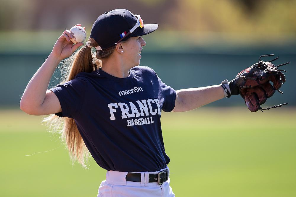 Melissa Mayeux, Team France Spring Training. Phoenix. Arizona. 2016.