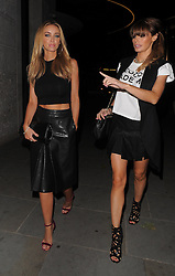 The Only Way Is Essex stars Lauren Pope and Chloe Sims arriving at the STK restaurant in London, UK. 25/10/2103<br />BYLINE MUST READ : GOTCHAIMAGES.COM<br /><br />Copyright by © Gotcha Images Ltd. All rights reserved.<br />Usage of this image is conditional upon the acceptance <br />of Gotcha Images Ltd, terms and conditions available at<br />www.gotchaimages.com