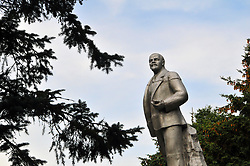 "Lenin looks out over a public square close to the Volga River in Uglich, Russia. As one of Russia's ""Golden Ring"" cities, Uglich is designated a town of significant cultural importance."