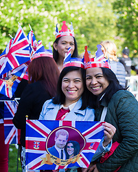 Excitement builds on the Long Walk on the procession route ahead of the royal wedding. Windsor, May 19 2018.