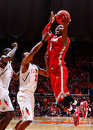 CHAMPAIGN, IL - JANUARY 05: Deshaun Thomas #1 of the Ohio State Buckeyes shoots the ball over Joseph Bertrand #2 of the Illinois Fighting Illini at Assembly Hall on January 5, 2013 in Champaign, Illinois. Ilinois defeated Ohio State 74-55. (Photo by Michael Hickey/Getty Images) *** Local Caption *** Deshaun Thomas; Joseph Bertrand