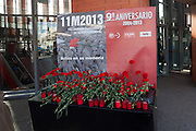 Memorial to the victims of the Madrid bombings 11M at Atocha station