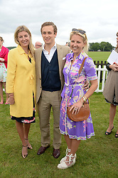 Left to right, CAROLINE RUPERT, FRANCESCO CIARDI and HANNELI RUPERT and at the 2013 Cartier Queens Cup Polo at Guards Polo Club, Berkshire on 16th June 2013.