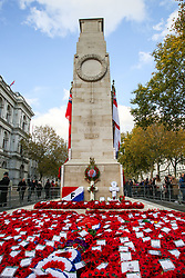 © Licensed to London News Pictures. 10/11/2019. London, UK. Wreaths at the Cenotaph memorial in Whitehall, central London laid by politicians and ambassadors on Remembrance Sunday. Remembrance Sunday is held each year to commemorate the service men and women who fought in past military conflicts. Photo credit: Dinendra Haria/LNP
