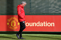 Manchester United manager Jose Mourinho - Mandatory by-line: Matt McNulty/JMP - 11/09/2017 - FOOTBALL - AON Training Complex - Manchester, England - Manchester United v FC Basel - Press Conference & Training - UEFA Champions League - Group A
