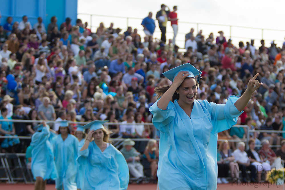 Erika A Picozzi walks into  Highland Regional High School graduation on Thursdays June 14, 2012 . (photo / Mat Boyle)