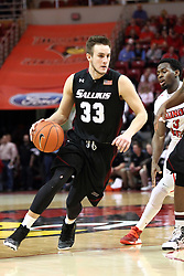 25 February 2015:   Sean O'Brien during an NCAA MVC (Missouri Valley Conference) men's basketball game between the Southern Illinois Salukis and the Illinois State Redbirds at Redbird Arena in Normal Illinois