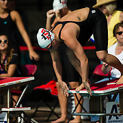 16 November 2017: The San Diego State women's swim team competes in the 2017 A3 Performance Invitational held at the SDSU Aquaplex. SDSU sophomore Courtney Vincent competes in the 50 yard freestyle.<br /> www.sdsuaztecphotos.com