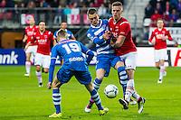 ALKMAAR - 16-04-2016, AZ - PEC Zwolle, AFAS Stadion, 5-1,  PEC Zwolle speler Thomas Lam, AZ speler Markus Henriksen