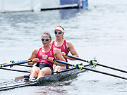 Henley Royal Regatta, 3-7 July 2019. B.C. Donoghue & O.K. Loe New Zealand, in the Final, of the Stonor Challenge Trophy, Royal Henley Peace Regatta Centenary, 1919-2019. Henley on Thames.<br /> <br /> <br /> <br /> [Mandatory Credit: Patrick WHITE/Intersport Images], 7, 07/07/2019,  12:27:39