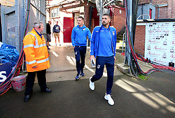 Liam Sercombe of Bristol Rovers and Tom Nichols of Bristol Rovers arrive at The Northern Commercials Stadium (Valley Parade), home of Bradford City - Mandatory by-line: Robbie Stephenson/JMP - 02/09/2017 - FOOTBALL - Northern Commercials Stadium - Bradford, England - Bradford City v Bristol Rovers - Sky Bet League One