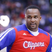 24 March 2014: Los Angeles Clippers forward Glen Davis (0) is seen prior to the Los Angeles Clippers 106-98 victory over the Milwaukee Bucks at the Staples Center, Los Angeles, California, USA.