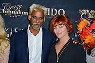 Satya Oblette et Fauve Hautot lors de la Ceremonie de la Finale du Concours Top Model Belgium au Lido de Paris presentee par Adriana Karembeu. France, Paris, le 10 mai 2015.