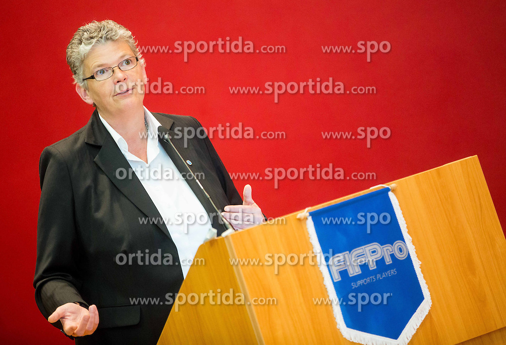 "Dr. Julie Norris of Interpol during FIFPro ""Don't Fix it"" Project Concluding Conference on June 4, 2014 in Grand Hotel Union, Ljubljana, Slovenia. Photo by Vid Ponikvar / Sportida"