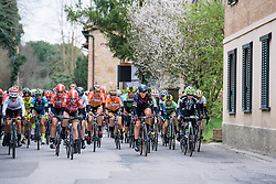 Race gets underway - 2016 Strade Bianche - Elite Women, a 121km road race from Siena to Piazza del Campo on March 5, 2016 in Tuscany, Italy.