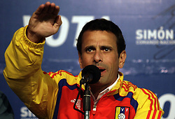 59513240. Venezuela s Opposition presidential candidate Henrique Capriles attends a press conference at Capriles Press New Center in Caracas, capital of Venezuela, April 13, 2013. Venezuela will hold presidential elections on April 14. Photo by: imago / i-Images. .UK ONLY