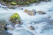 Surging water Sauk River Washington State