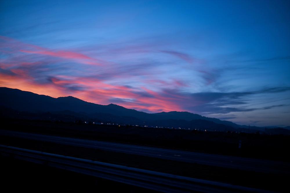 Marin California Sunset, mountains,