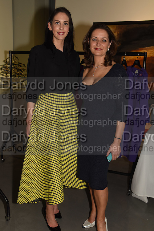 ELAINE MADIGAN; NIAMH O'NEILL, The Arthur Cox Irish Fashion Showcase 2015,  Irish based designers chosen to be part of this year's Arthur Cox Irish Fashion Showcases The Mall Galleries, London. 13 May 2015.