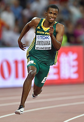 25-08-2015 CHN: IAAF World Championships Athletics day 4, Beijing<br /> Anaso Jabodwana RSA - 200 m<br /> Photo by Ronald Hoogendoorn / Sportida