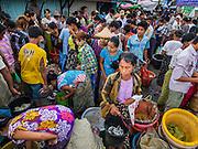 08 NOVEMBER 2014 - SITTWE, RAKHINE, MYANMAR:  People on the fishing pier in Sittwe. Sittwe is a small town in the Myanmar state of Rakhine, on the Bay of Bengal.  PHOTO BY JACK KURTZ