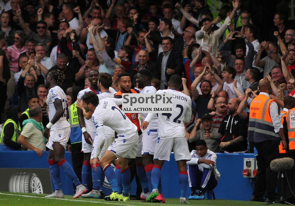 Crystal Palace celebrate During Chelsea vs Crystal Palace on Saturday the 29th August 2015