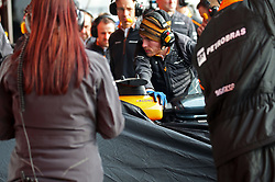 February 26, 2018 - Barcelona, Catalonia, Spain - Accident of the McLaren of Fernando Alonso during the tests at the Barcelona-Catalunya Circuit, on 27th February 2018 in Barcelona, Spain. (Credit Image: © Joan Valls/NurPhoto via ZUMA Press)